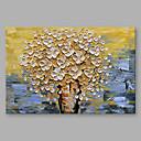 tanie Sztuka oprawiona-Hang-Malowane obraz olejny Ręcznie malowane - Kwiatowy / Roślinny Nowoczesny Brezentowy