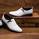 halpa Miesten Oxford-kengät-Miesten Muodolliset kengät PU Syksy / Talvi Englantilainen Oxford-kengät Valkoinen / Musta / Juhlat / Juhlat / Juhlakengät / Comfort-kengät