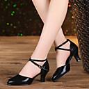 hesapli Balo Ayakkabıları ve Modern Dans Ayakkabıları-Kadın's Işıltılı Simler / Sentetik / Süet Latin Dans Ayakkabıları Işıltılı Pullar / Toka / Fırfırlı Sandaletler / Topuklular / Spor Ayakkabı Küba Topuk Kişiselletirilmemiş Kırmızı / Gümüş / Altın