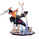 billige Anime actionfigurer-Anime Action Figurer Inspirert av One Piece Roronoa Zoro PVC 13 CM Modell Leker Dukke