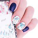 cheap Rhinestone & Decorations-1 pcs Full Nail Stickers nail art Manicure Pedicure Flower / Fashion Daily