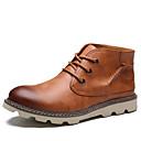 baratos Sandálias e Chinelos Masculinos-Homens sapatos Couro / Courino Primavera / Outono Conforto Botas Botas Curtas / Ankle Preto / Marron