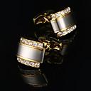 お買い得  LEDストリップライト-幾何学形 ゴールデン カフスボタン 銅 / 合金 メタリック / ファッション 男性用 コスチュームジュエリー 用途 結婚式 / 贈り物