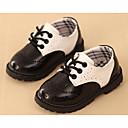 baratos Mocassins Femininos-Para Meninos Sapatos Courino Primavera Conforto Oxfords Caminhada Cadarço para Preto / Branco / Preto