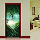 tanie Naklejki ścienne-Naklejki na drzwi - Naklejki ścienne 3D Krajobraz / Botaniczne Salon / Sypialnia / Łazienka
