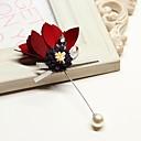 baratos Broches e Pins-Mulheres Broches - Flor Coreano Broche Azul Claro / Rosa Claro / Azul Real Para Casamento / Diário