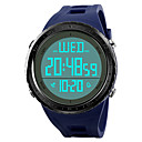 cheap Men's Watches-SKMEI Men's Sport Watch / Wrist Watch / Digital Watch Japanese Alarm / Calendar / date / day / Chronograph PU Band Casual Black / Blue / Green / Water Resistant / Water Proof / Dual Time Zones