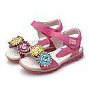 זול נעלי ילדות-בנות נעליים דמוי עור קיץ נוחות / צעדים ראשונים סנדלים כפתור / סקוטש ל אפרסק