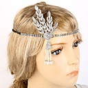 cheap Party Gloves-The Great Gatsby Flapper Headband Pendant / 1920s Black / Silver / Golden Rhinestone / Chrome Cosplay Accessories Masquerade Halloween Costumes