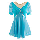 cheap Ice Skating Dresses , Pants & Jackets-Figure Skating Dress Women's Ice Skating Dress Spandex Rhinestone Performance / Leisure Sports Skating Wear Handmade Solid Colored Long