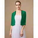 cheap Wedding Wraps-3/4 Length Sleeve Chiffon Wedding / Party / Evening Women's Wrap With Shrugs