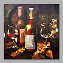 abordables Impresiones-Pintura al óleo pintada a colgar Pintada a mano - Naturaleza muerta Modern Incluir marco interior / Lona ajustada
