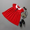 tanie Sukienki dla dziewczynek-Brzdąc Dla dziewczynek Wyjściowe Jendolity kolor Krótki rękaw Sukienka / Bawełna / Księżniczka