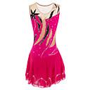 baratos Vestidos de Patinação no Gelo-Vestidos para Patinação Artística Mulheres / Para Meninas Patinação no Gelo Vestidos Pêssego Pedrarias Elasticidade Alta Roupas para