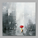 cheap People Paintings-Oil Painting Hand Painted - People Modern Canvas