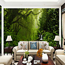 cheap Wall Stickers-Botanical Art Deco 3D Home Decoration Contemporary Rustic Modern Wall Covering, Canvas Material Adhesive required Mural, Room Wallcovering