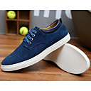 cheap Men's Sneakers-Men's Suede Spring / Fall Comfort Sneakers Blue / Camel / Burgundy