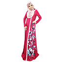 cheap RC Parts & Accessories-Arabian Dress / Abaya / Kaftan Dress Women's Festival / Holiday Halloween Costumes Gray / Red / Blue Floral Ethnic Style / Dresses&Skirts / Long