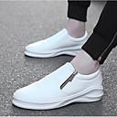 זול סניקרס לגברים-בגדי ריקוד גברים PU אביב / סתיו נוחות נעלי ספורט לבן / שחור / שחור לבן