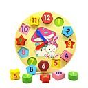 baratos Brinquedos de Leitura-Brinquedo de madeira do relógio Brinquedo Educativo Brinquedos Forma Geométrica Educação de madeira Crianças Peças