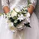 """baratos Bouquets de Noiva-Bouquets de Noiva Buquês Casamento / Festa Outros Material / Poliéster 11.8""""(Aprox.30cm)"""