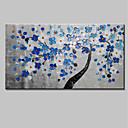tanie Obrazy olejne-Hang-Malowane obraz olejny Ręcznie malowane - Kwiatowy / Roślinny Prosty Płótno / Rozciągnięte płótno