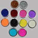 billige Nail Glitter-Akryl Til finger tå Smuk / 6 farver Negle kunst Manicure Pedicure Blomst / Abstrakt / Klassisk Daglig