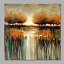 cheap Landscape Paintings-Oil Painting Hand Painted - Landscape Modern Canvas