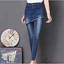 cheap Men's Earrings-Women's Jeans Pants - Solid Colored Peplum / Going out