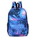 halpa Koululaukut-Unisex Kuviointi / printti Kangas Koululaukku Backpack Tähdet Punastuvan vaaleanpunainen / Tumman sininen