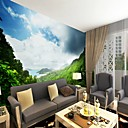 cheap Wall Murals-Art Deco Pattern 3D Home Decoration Contemporary Rustic Modern Wall Covering, Canvas Material Adhesive required Mural, Room Wallcovering