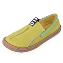 cheap Women's Sandals-Women's Shoes Flocking Spring / Fall Comfort Loafers & Slip-Ons Flat Heel Round Toe Black / Yellow / Dark Brown