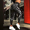 ieftine Îmbrăcăminte de Fitness, Alergat & Yoga-Pentru femei - Mată, Imprimeu ripped Imprimeu Culori Mate Legging