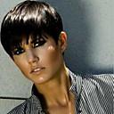 olcso Emberi hajból készült parókák-Emberi hajszelet nélküli parókák Emberi haj Egyenes Pixie frizura Oldalsó rész Rövid Géppel készített Paróka Női