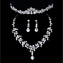 cheap Jewelry Sets-Women's Jewelry Set Imitation Diamond Classic Include Silver For Wedding Party