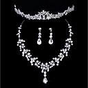 hesapli Takı Setleri-Kadın's Takı Seti Simüle Elmas Klasik Dahil etmek Gümüş Uyumluluk Düğün Parti