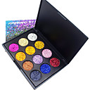 cheap Eyeshadows-12 Colors Eyeshadow Palette / Powders EyeShadow Formaldehyde Free Convenient Daily Makeup / Halloween Makeup / Party Makeup Makeup Cosmetic / Shimmer