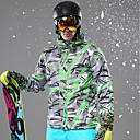 billige Softshell, fleece og turjakker-Herre Skijakke Vindtett, Vanntett, Varm Ski & Snowboard Vinterjakke Skiklær