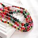 cheap Wall Stickers-DIY Jewelry 48 pcs Beads Synthetic Gemstones Rainbow Round Bead 1 cm DIY Necklace Bracelet