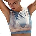 זול בגדי ריצה-חזיות ספורט מרופד תמיכה קלה עבור יוגה - כחול ייבוש מהיר, נשימה בגדי ריקוד נשים כותנה, ניילון