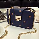 cheap Concealers & Contours-Women's Bags PU(Polyurethane) Shoulder Bag Buttons / Zipper Blue / White / Black