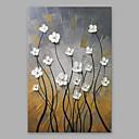 זול הדפסי בד מגולגל-מצויר ביד פרחוני/בוטני אנכי, מודרני ציור שמן צבוע-Hang קישוט הבית פנל אחד