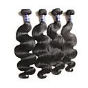 cheap One Pack Hair-Virgin Human Hair Body Wave Peruvian Hair 400 g 1 Year Daily