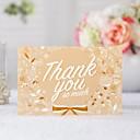 זול הזמנות לחתונה-מקופל הזמנות לחתונה 20 - כרטיסי Thank you סגנון קלאסי נייר עם תבליטים דוגמא \ הדפס