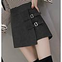 baratos Acessórios Masculinos-Mulheres Cintura Alta Algodão Shorts Calças - Sólido
