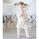 זול אוברולים טריים לתינוקות-תִינוֹק מקשה אחת One-pieces כותנה אביב ללא שרוולים יום יומי\קז'ואל פרחוני בנות רגיל לבן