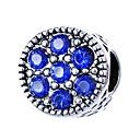 זול חרוזים-תכשיטים DIY 10 יח חרוזים סגסוגת ורוד פנינה אדום ירוק כחול בהיר כחול ים עגול חָרוּז 0.45 cm עשה זאת בעצמך שרשראות צמידים