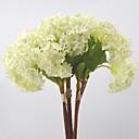 cheap Artificial Plants-Artificial Flowers 3 Branch Pastoral Style Hydrangeas Tabletop Flower