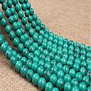 זול חרוזים-תכשיטים DIY 38 יח חרוזים שרף ירוק עגול חָרוּז 1 cm עשה זאת בעצמך שרשראות צמידים