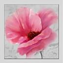 رخيصةأون لوحات الزهور والنباتات-هانغ رسمت النفط الطلاء رسمت باليد - الأزهار / النباتية الحديث كنفا